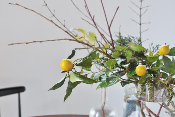 花の会での風景と金柑