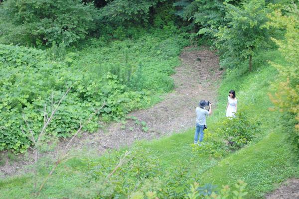 キートスの庭で撮影