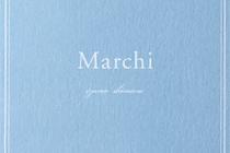 Marchiショップカード、シール、活版名刺