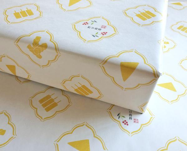 野口蒟蒻包装紙デザイン