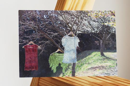 春の編み物展ポストカード表