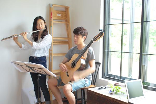 フルート杏那さんとギターやっくん