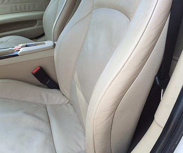 BMW Z4 クーペレザーシートリペア施行後