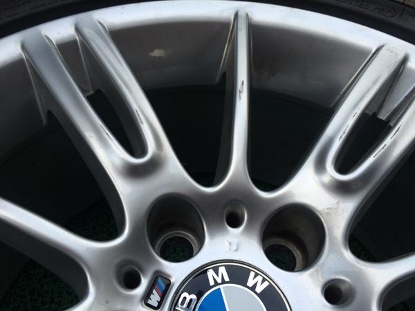 BMW ハイパーシルバーホイールリペア前