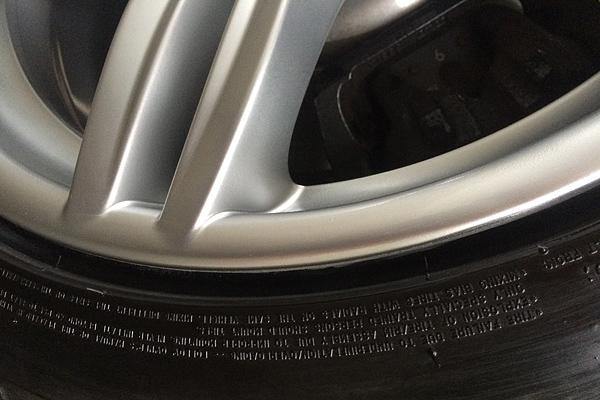 BMW 640i Mスポーツ ハイパーシルバーホイール補修後クローズアップ