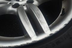 BMW 640i Mスポーツ ハイパーシルバーホイール補修前